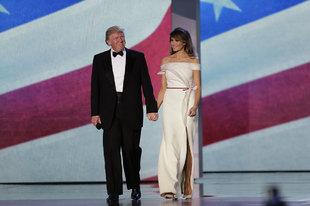 La Primera Dama y mujer de Donald Trump, presidente de Estados Unidos,...