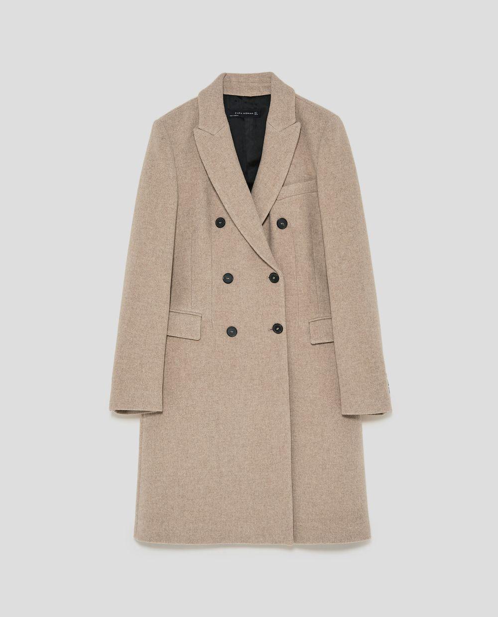 Abrigo cruzado de Zara (99,95 euros)