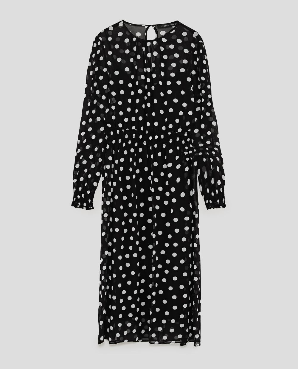 Vestido de lunares de Zara (49,95 euros)