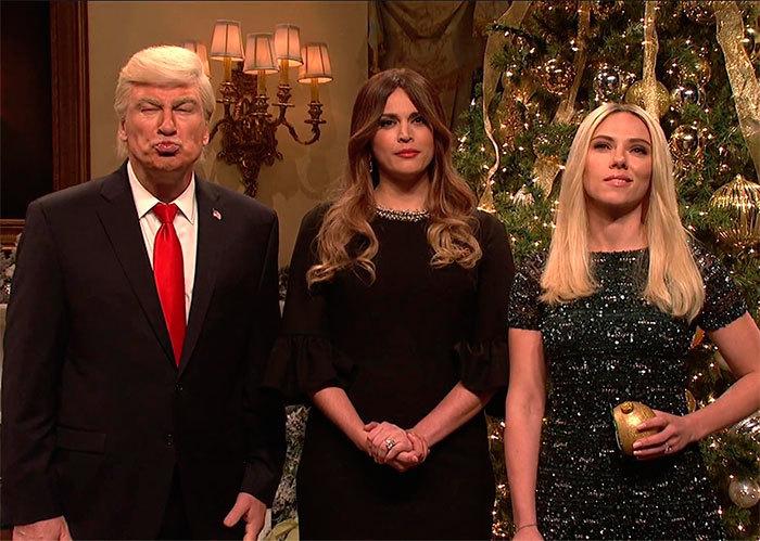 Donald Trump, intrepretado por Alec Baldwin, Melania Trump, parodiada...