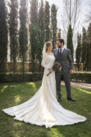 Paloma y Miguel se casaron en una Basílica de la capital y celebraron...