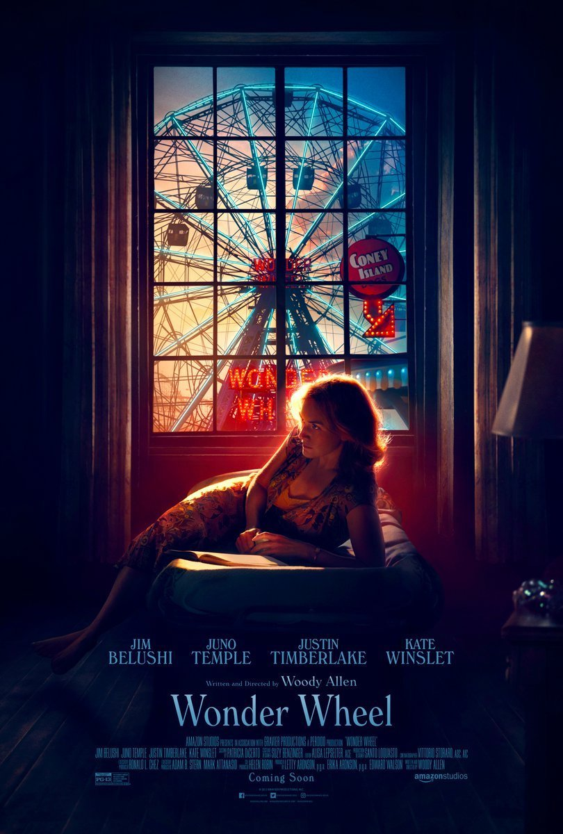 Cartel de Wonder Wheel, la última película de Woody Allen.