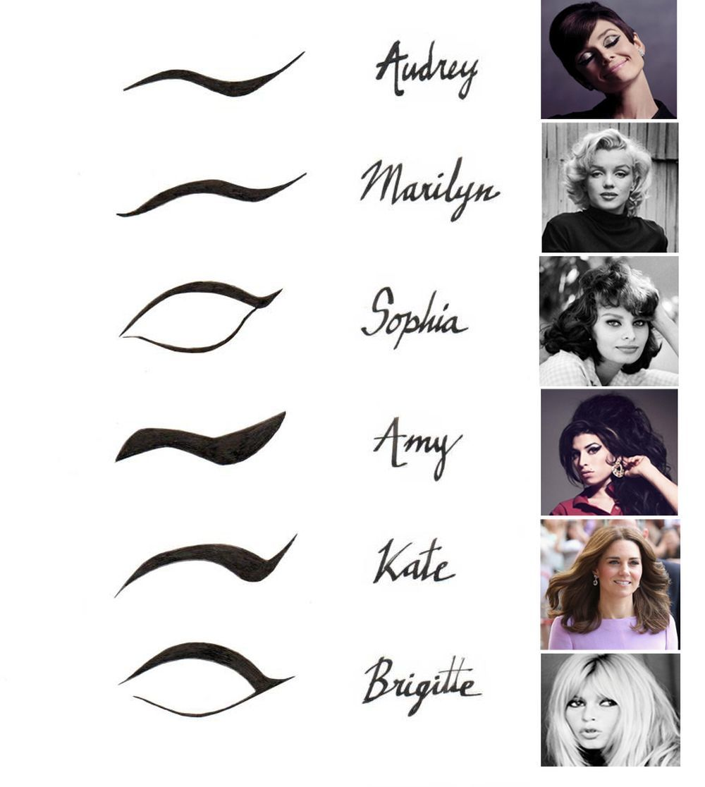 Eyeliner iconos de estilo.