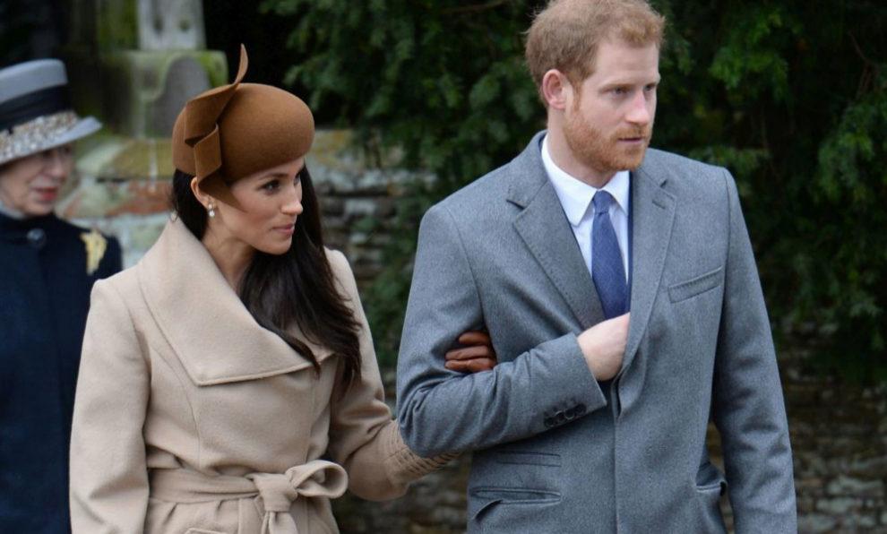 Meghan Markle junto al príncipe Harry.