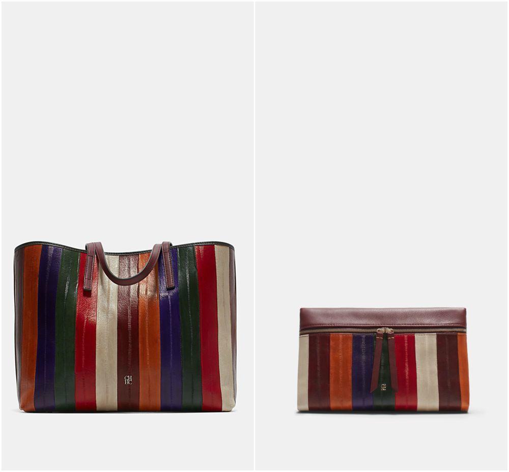 El bolso valorado en 855 euros; el clutch, en 560 euros.