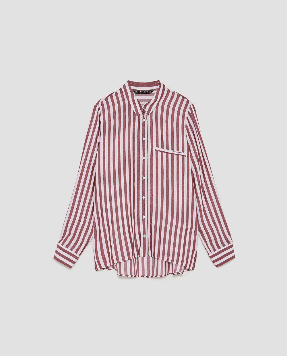 Camisa de rayas de Zara (12,99 euros)
