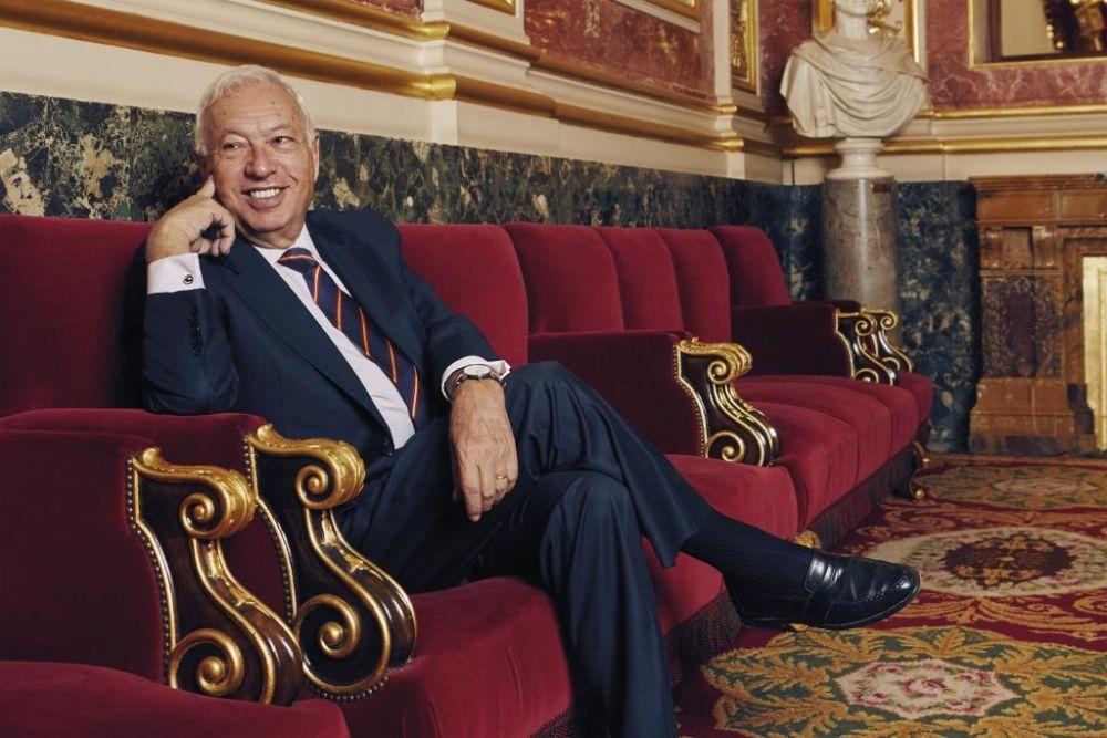 José Manuel García-Margallo en el Salón de los Pasos Perdidos del...