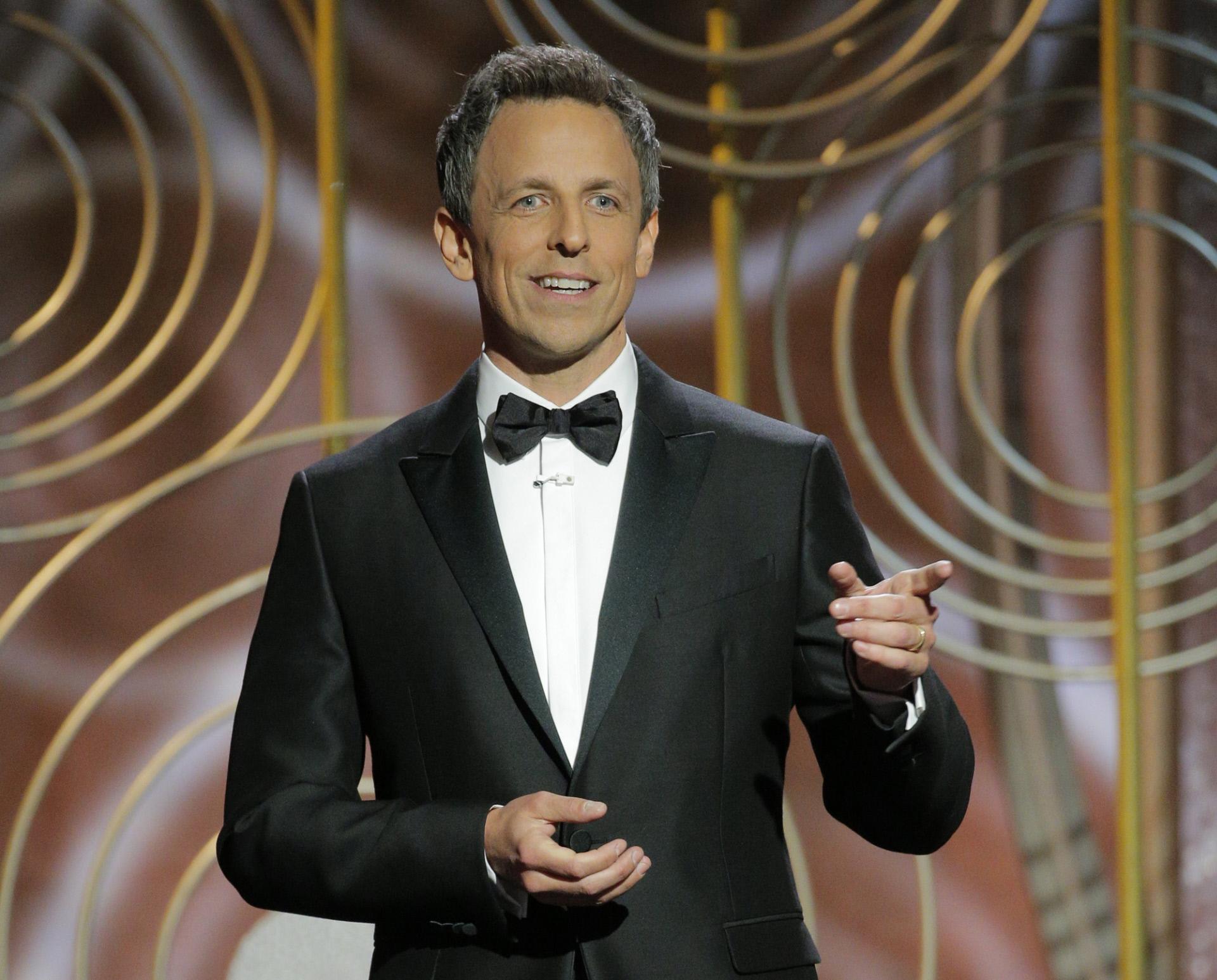 Seth Meyers, el presentador de la ceremonia de este año de los Globos...