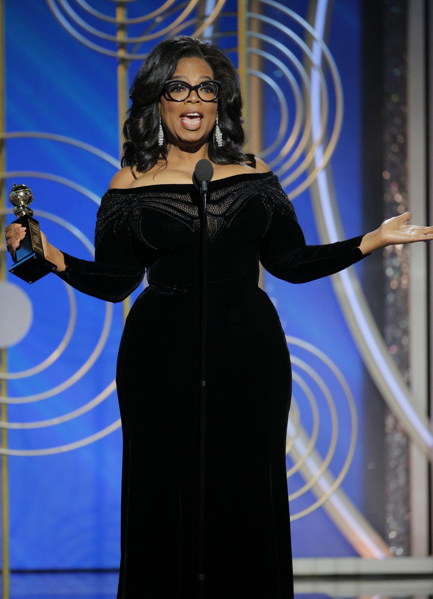 El discurso de Oprah Winfrey la postula incluso como próxima...