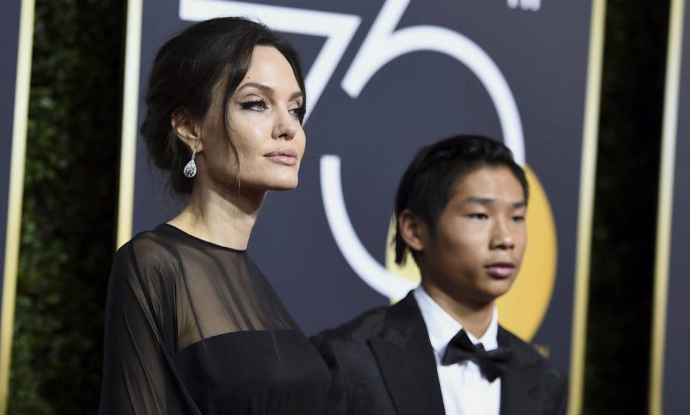 Angelina Jolie y su hijo Pax