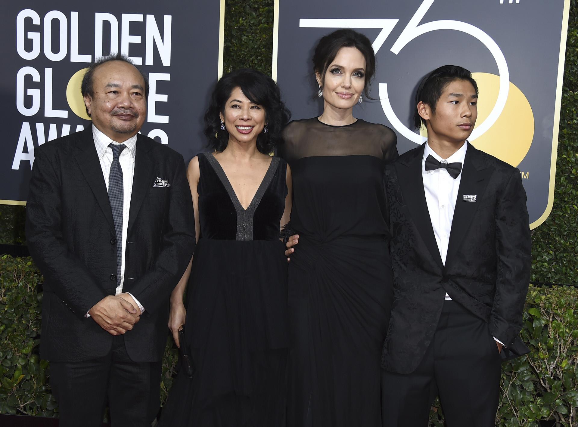 Angelina Jolie asistió con su hijo y con Loung Ung