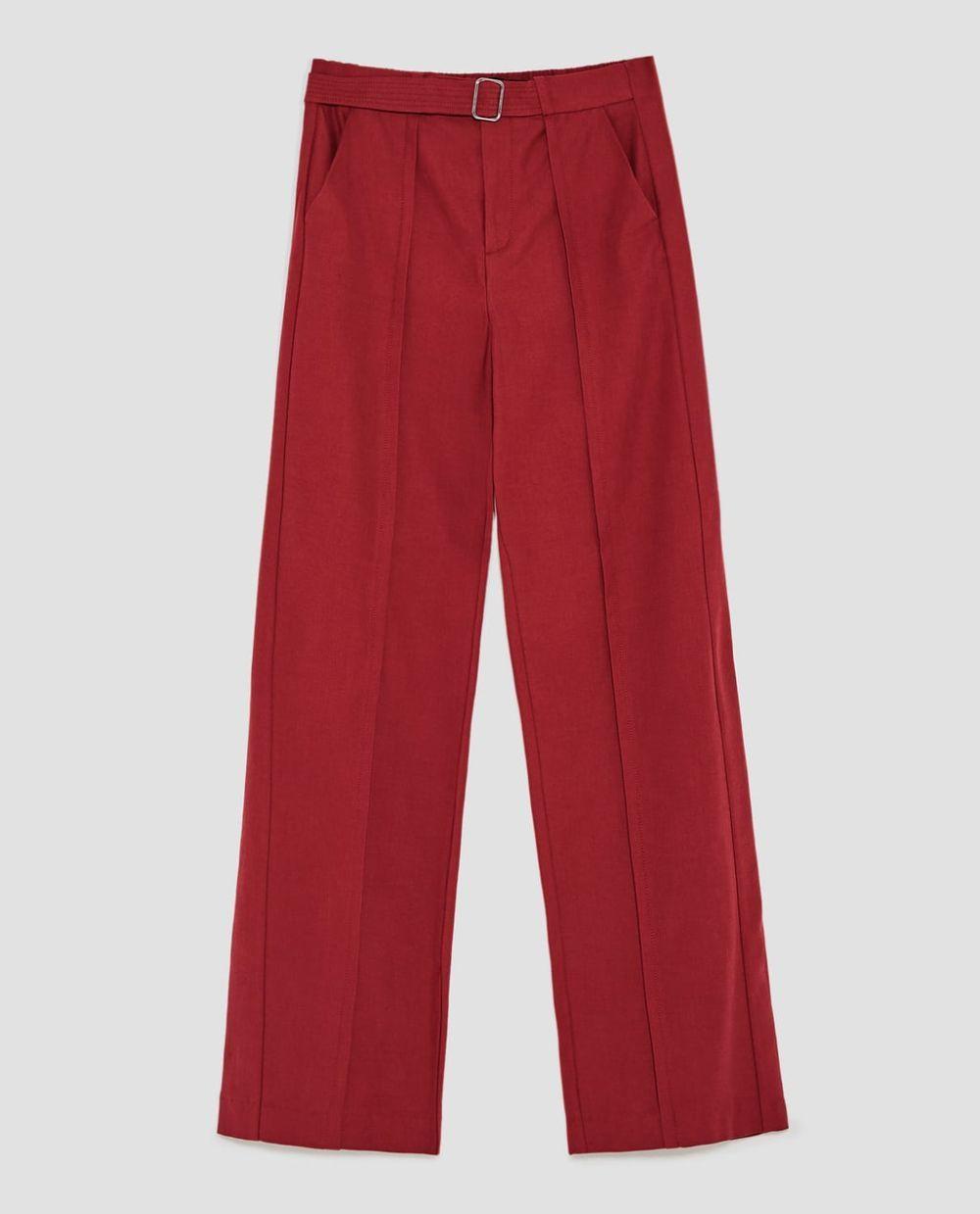 Pantalón ancho color caldera de Zara (19,99 euros)