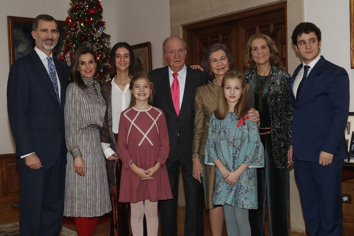 La Familia Real durante el 80 cumpleaños del Rey Juan Carlos