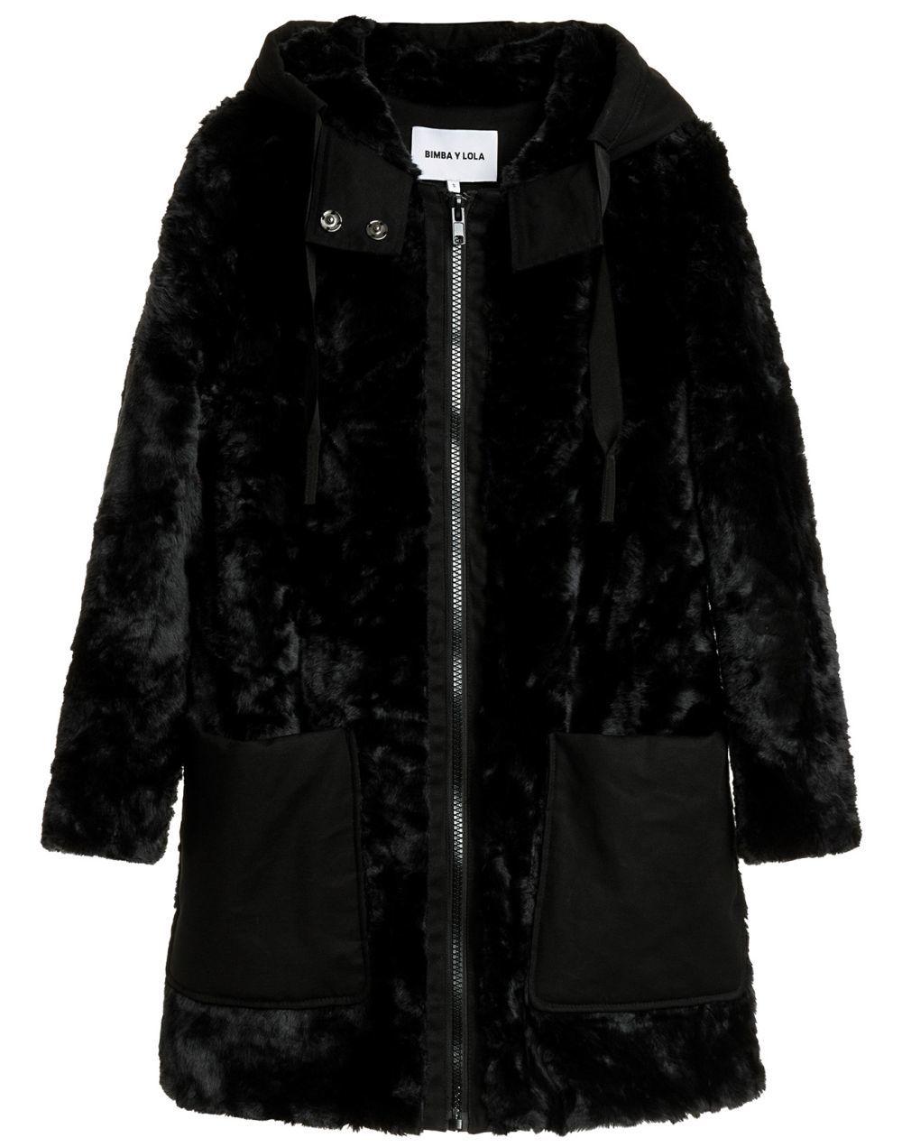 Abrigo azul de pelo Bimba y Lola (185 euros)