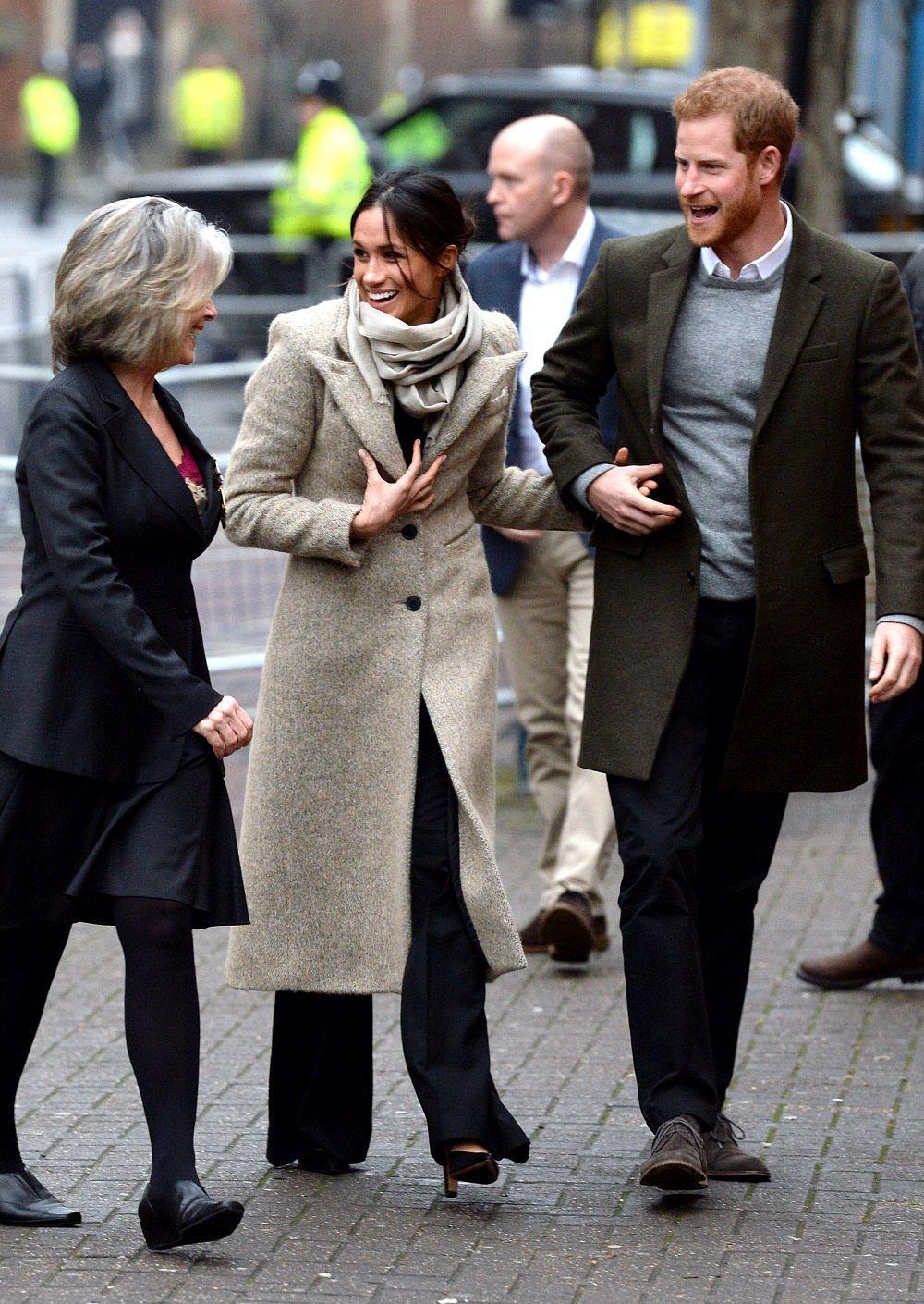 Megan y Harry ayer en una aparición oficial.