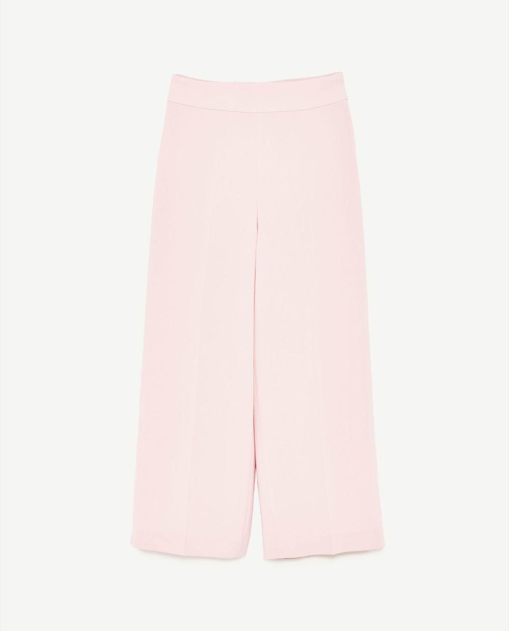 Culotte rosa de Zara(17, 99 euros)