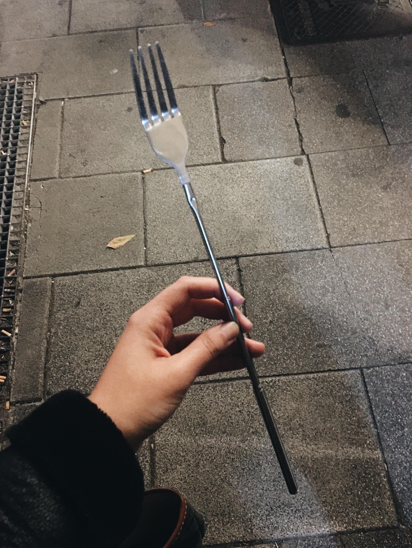 El tenedor de Julita, una de las muchas reliquias sin las que ella no...