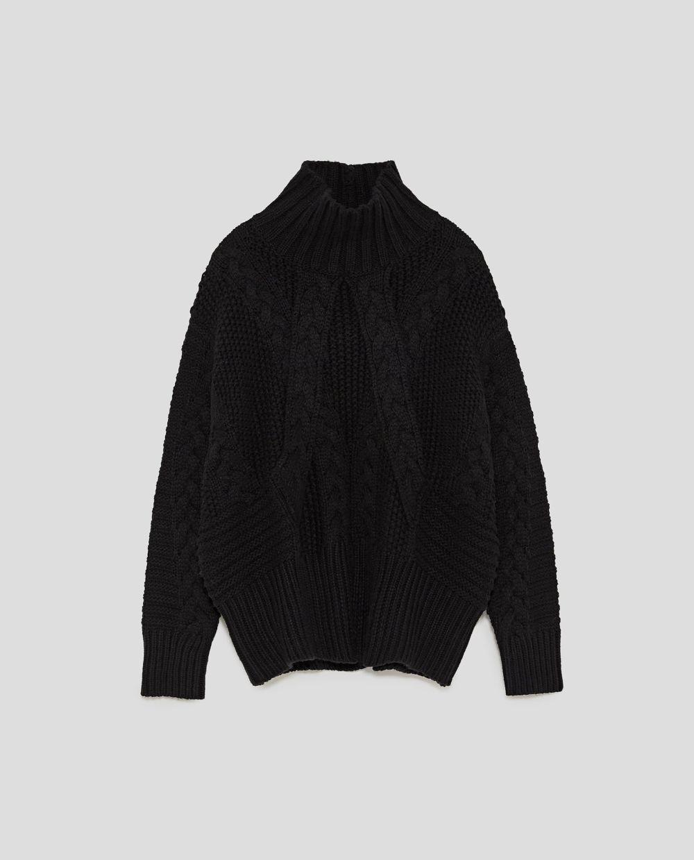 Jersey de cuello alto de Zara (19,99 euros)