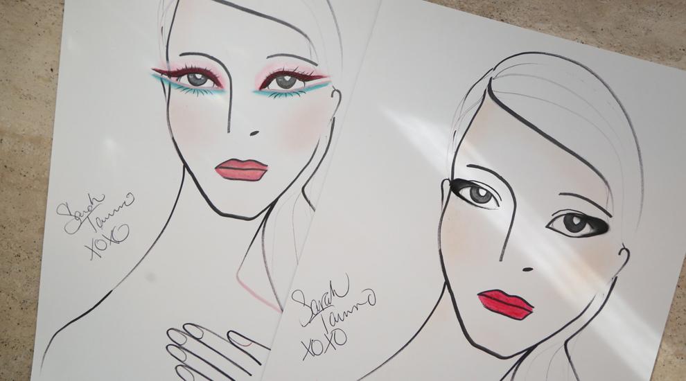 Bocetos de los looks creados por Sarah Tanno en la presentación de...