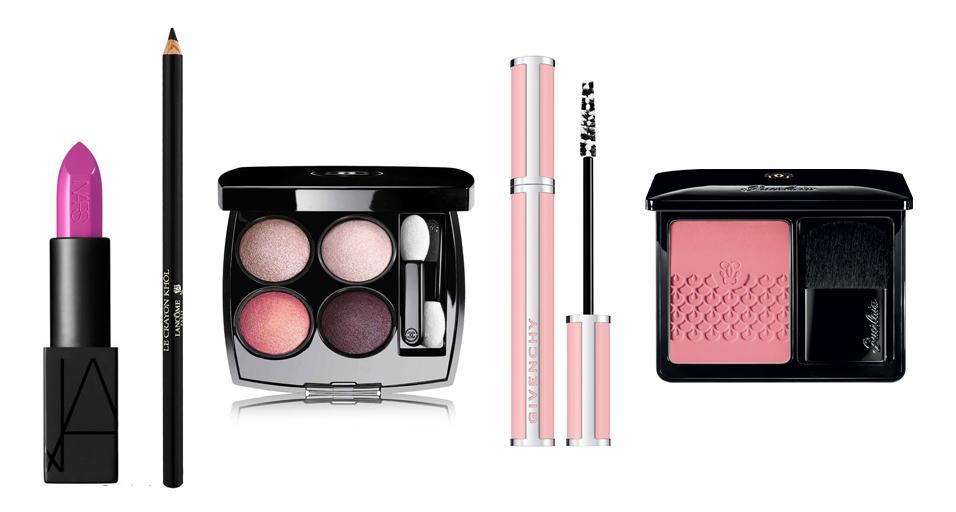 Maquillaje rosa.