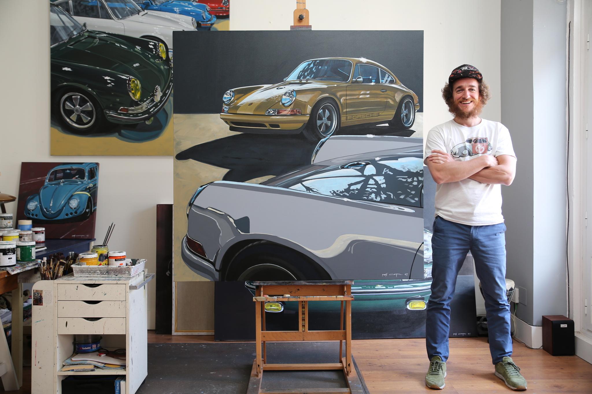 Manu Campa en su estudio de Malasaña.