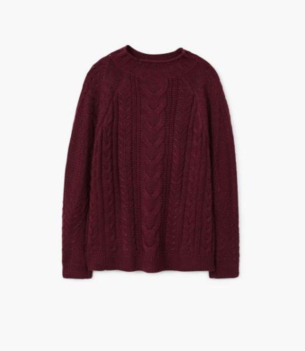 Jersey burdeos de H&M (19,99 euros)