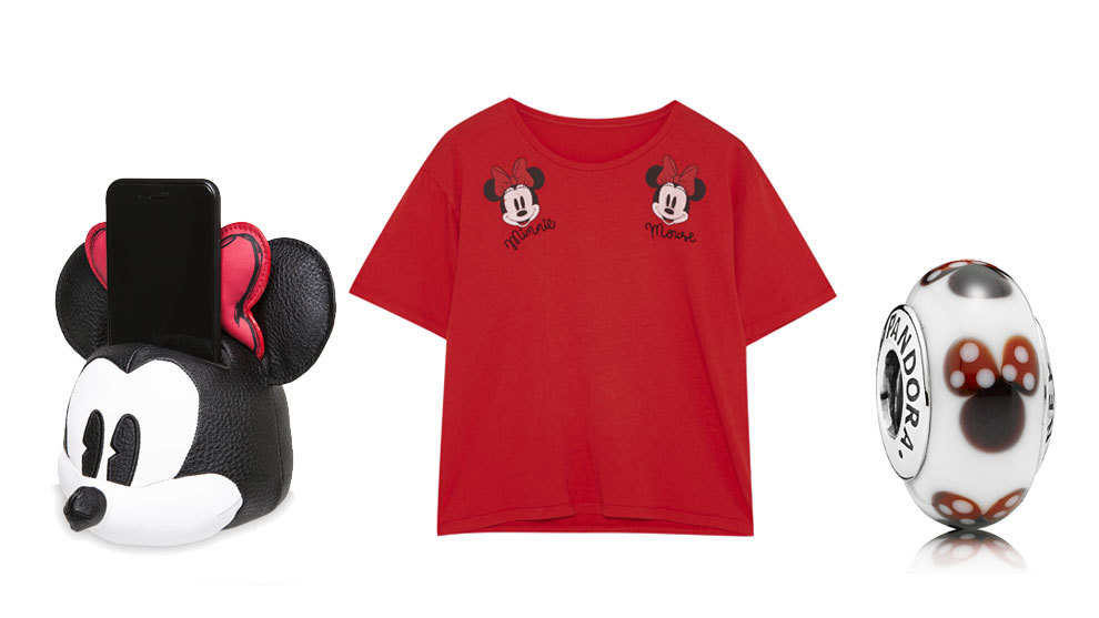 Doc Station Minnie Mouse (14 euros, Disney Store), camiseta Minnie...