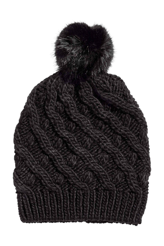 Gorro negro de H&M (9,99 euros)