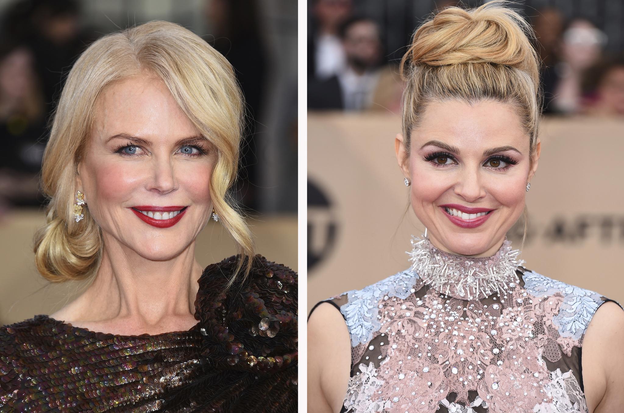 Nicole Kidman y Cara Buono, un moño en dos versiones.