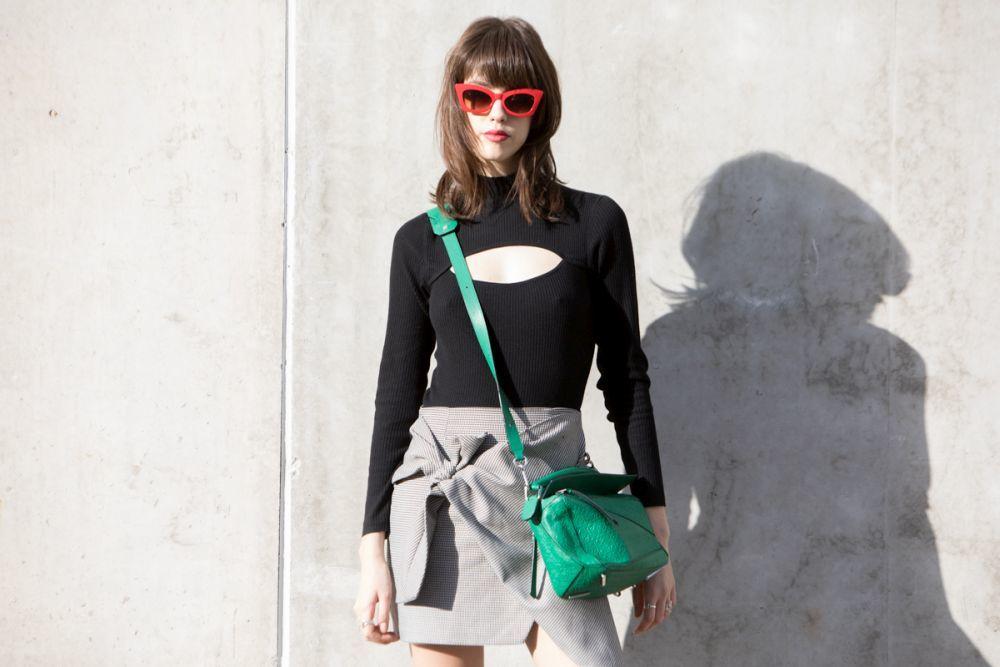 La Modelo Mayka Merino El Street Style De Madrid Fashion Week