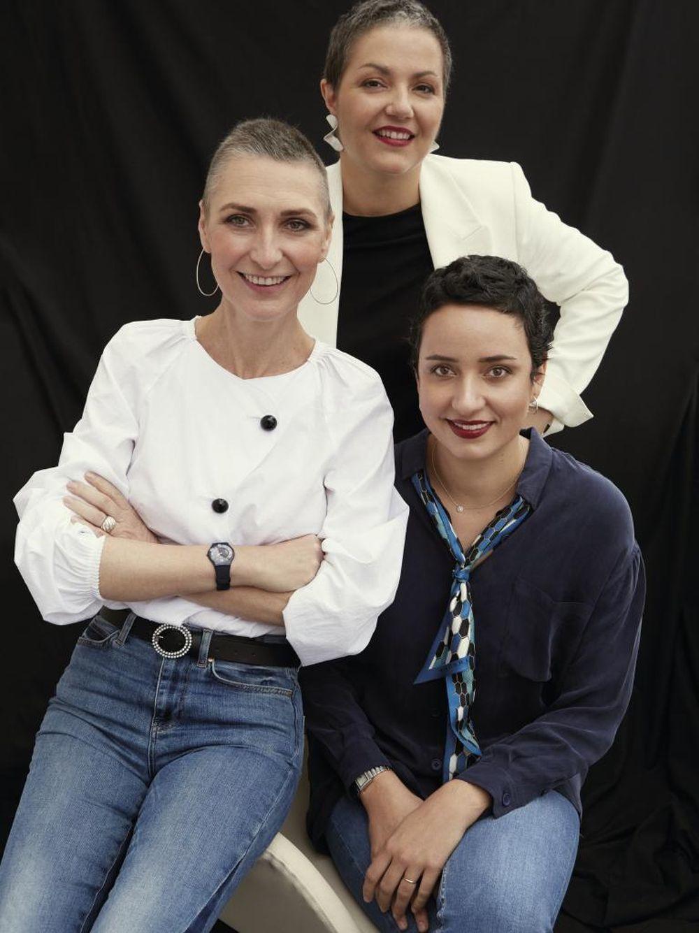 Ilona Calparsoro, Elena Pérez-Garrigues y Alejandra Luis, tres...