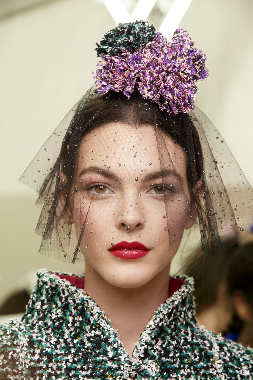 Look beauty del desfile de Alta Costura de Chanel.