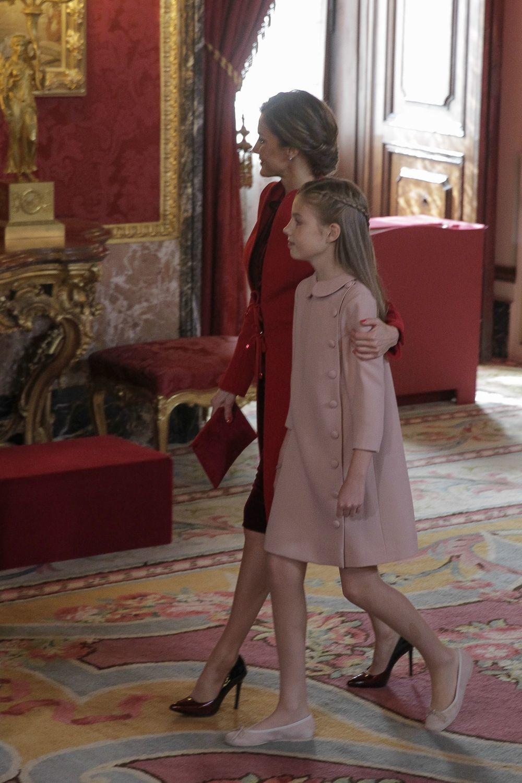 La Reina Letizia junto a la Infanta Sofía