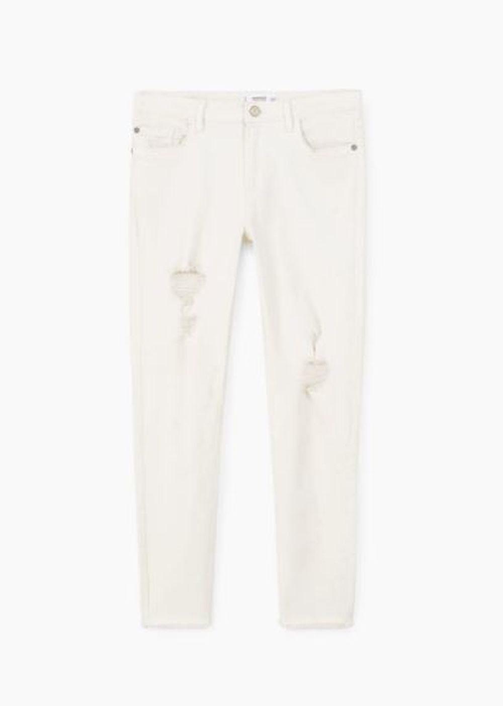 Denim blanco de Mango (15,99 euros)