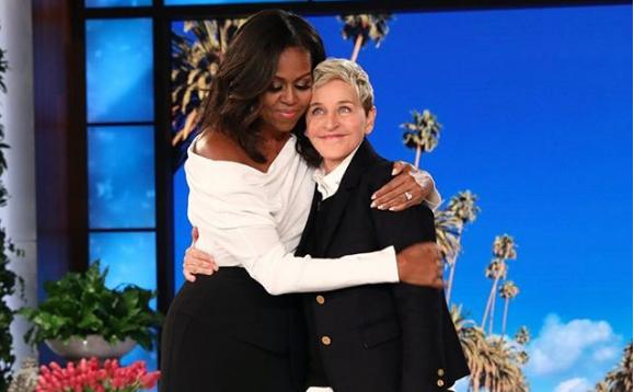 Michelle Obama en el al programa especial de Ellen DeGeneres por su 60...