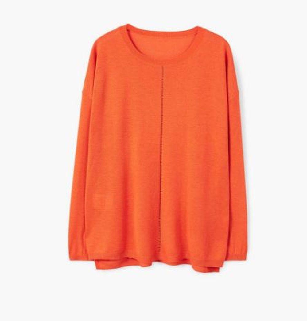 Jersey naranja de Mango (17,99 euros)