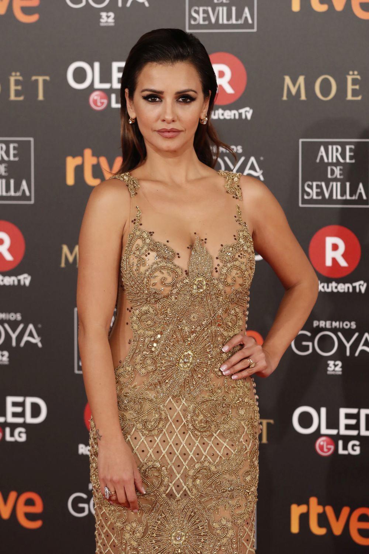 La actriz Mónica Cruz luce una melena en dos texturas con efecto...