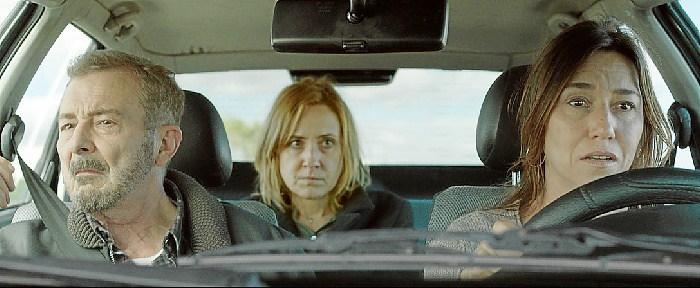 Juan Diego, Nathalie Poza y Lola Dueñas en No sé Decir Adiós.