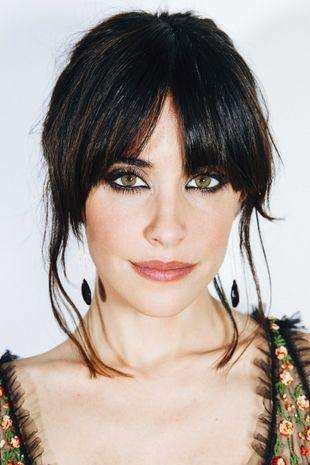 Macarena García con el maquillaje en clave bronce y anaranjado que...