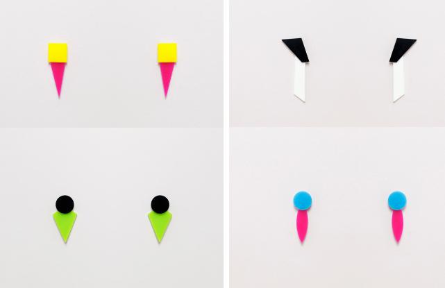 Con un punto pop, los pendientes grandes y en color block añaden...