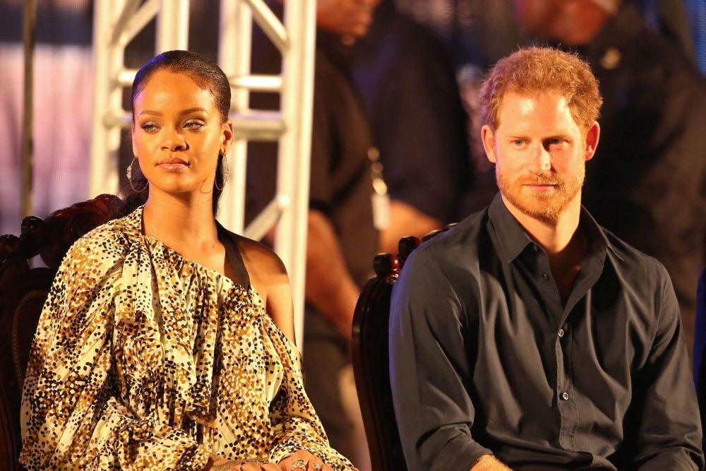 El príncipe Harry con la cantante Rihanna en Barbados.