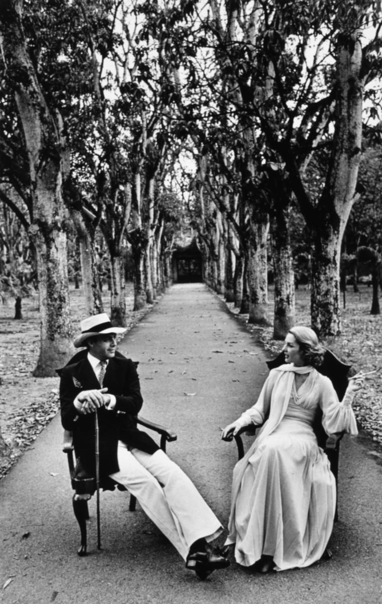 Carolina Herrera y su marido.