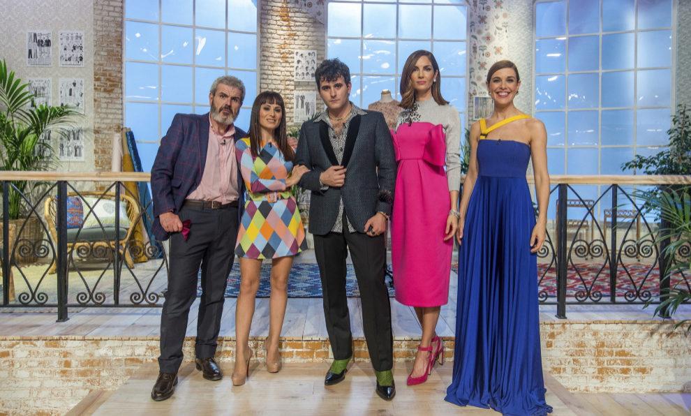 Lorenzo Caprile, María Escoté y Alejandro Palomo (jurado del...