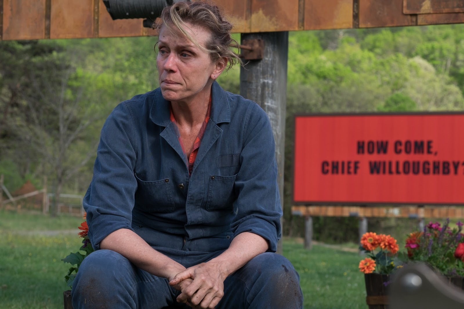 """Frances McDormand en una escena de """"Tres anuncios en las afueras"""""""