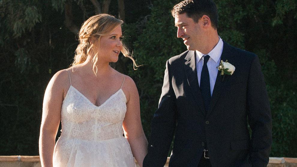 Amy Schumer y Chris Fischer en su boda