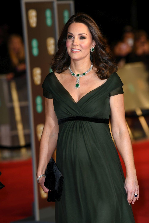 La Duquesa de Cambridge en la entrega de los BAFTA