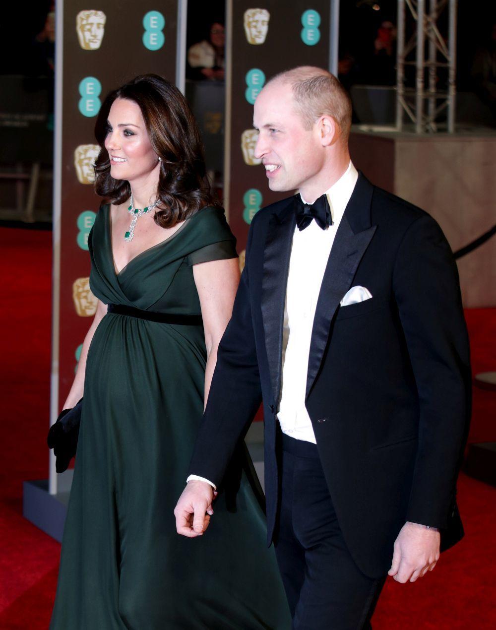 Kate y Guillermo durante la entrega de Premios BAFTA