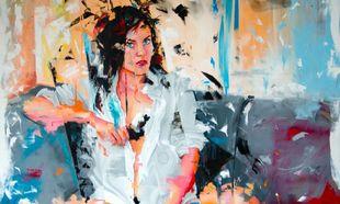 Now leav 3. Obra única de Remy Uno. En Claudia Arbulu Gallery.