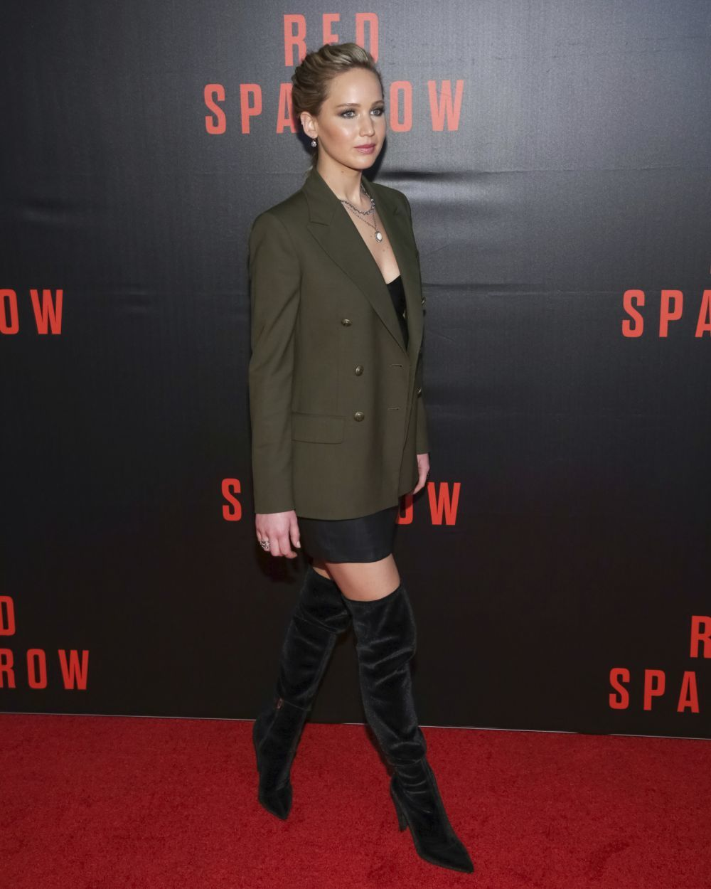 Jennifer Lawrence en la presentación de Red Sparrow