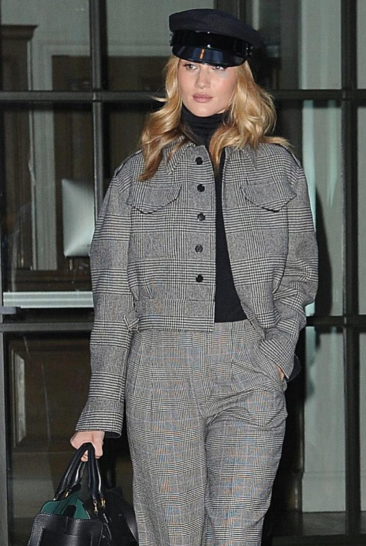 Rosie Huntington-Whiteley en la semana de la moda de Nueva York
